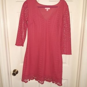 Lilly Pulitzer Hot Pink Dress M